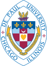 Seal of Depaul university, they studied Harry Potter & chose Potter tour on their visit